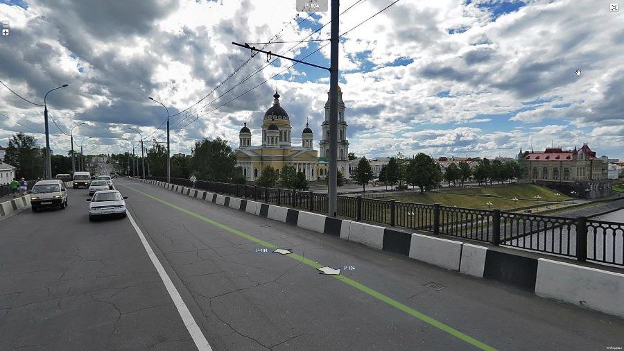 Панорамы улиц Рыбинска.