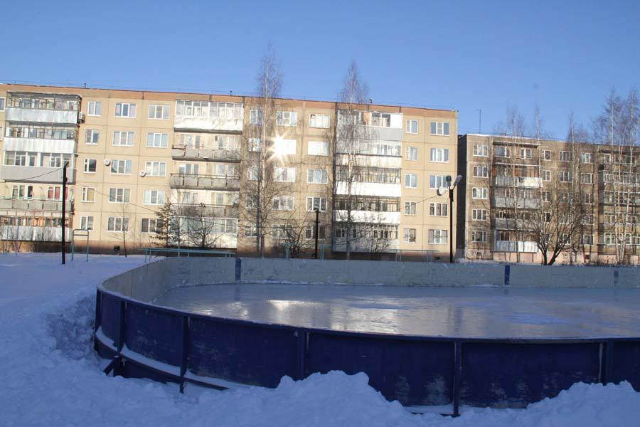 В Рыбинске готовят катки