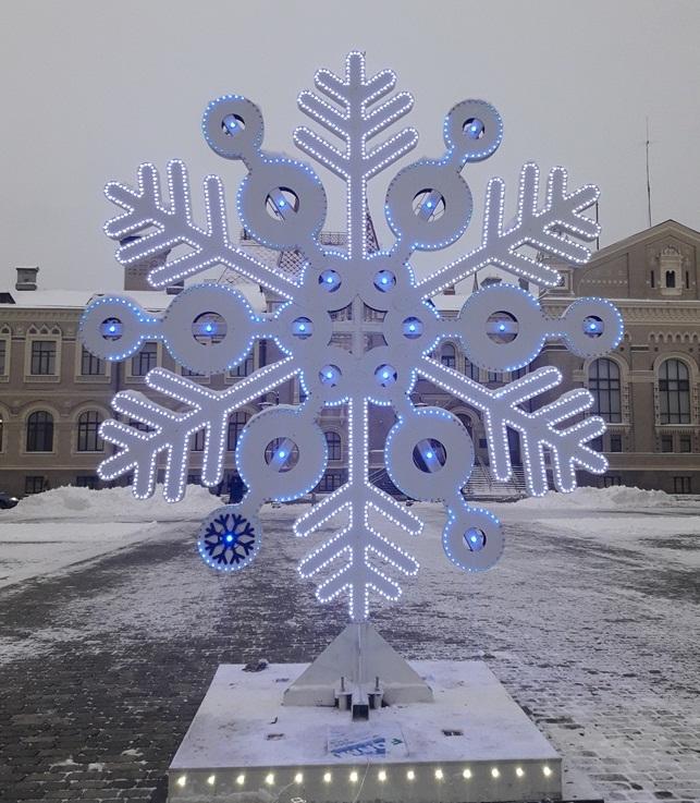 В Рыбинске установили самую большую в России снежинку
