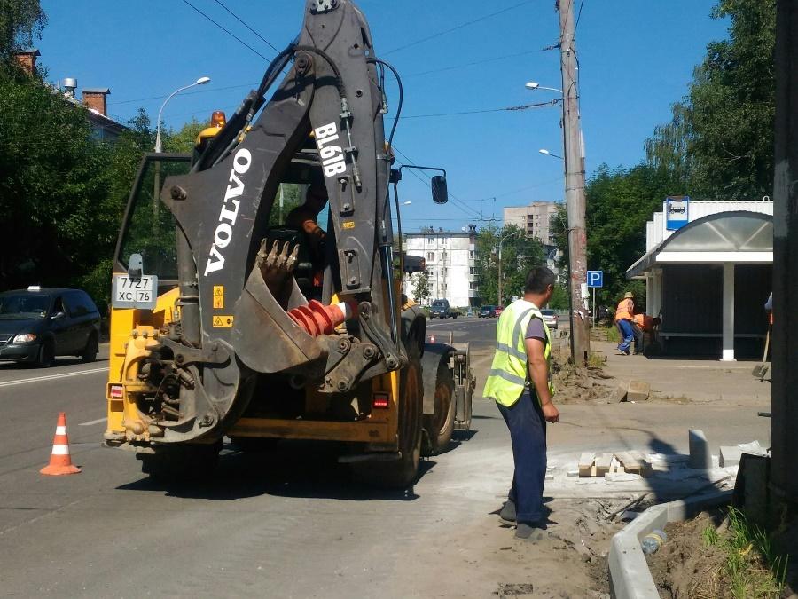 В Рыбинске приступили к ремонту автодороги на улице 9 Мая