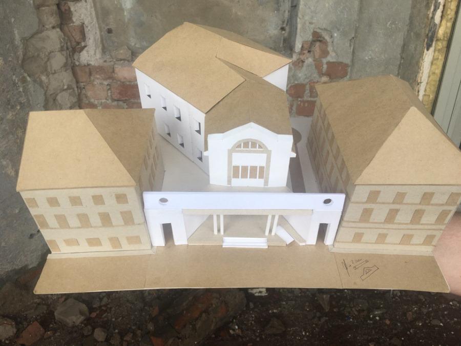 В Рыбинске ремонтируют фасад здания театра