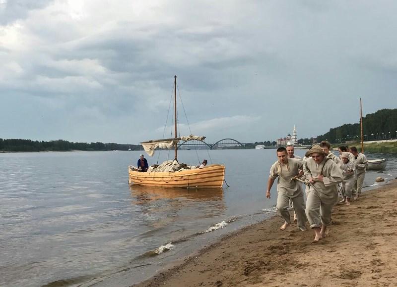 В День города в Рыбинске состоялся фестиваль «Бурлаки вдоль Волги»