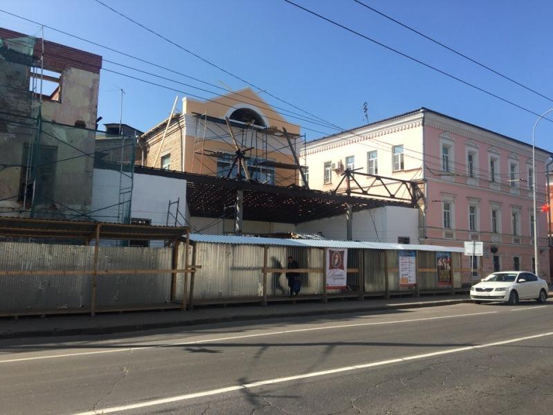 В Рыбинске реконструируют фасад здания драматического театра