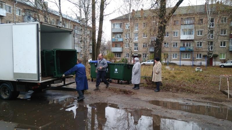 В Рыбинске активно проводят работы по переносу контейнерных площадок