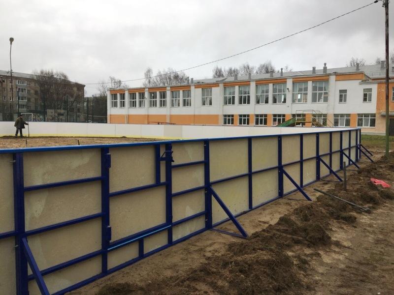В Рыбинске начали готовить ледовые площадки