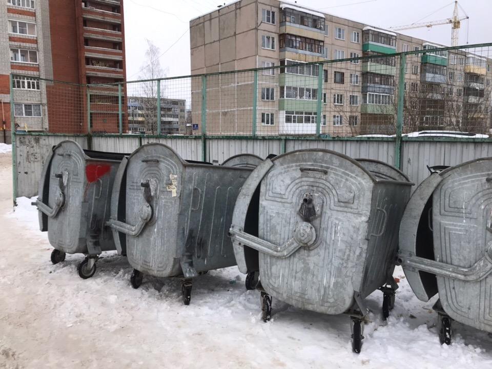 В Рыбинске продолжается перенос контейнерных площадок