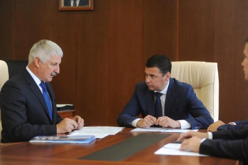 Денис Добряков и Дмитрий Миронов обсудили вопросы социально-экономического развития Рыбинска