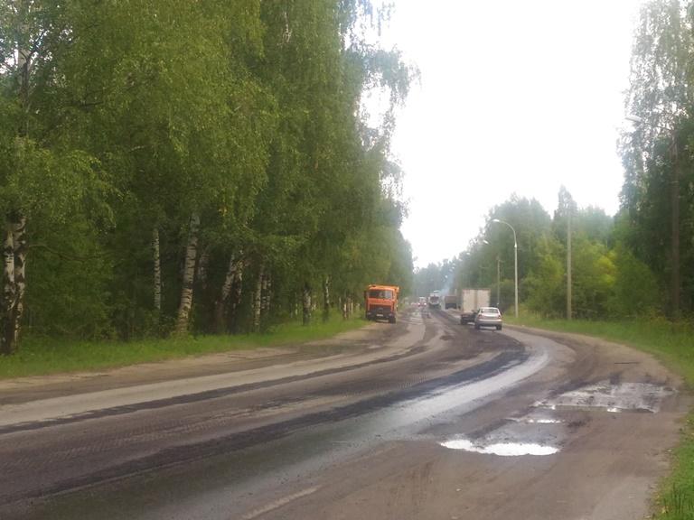 В Рыбинске начали ремонтировать Переборский тракт